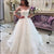 Long Sleeves Off Shoulder Wedding Dress Elegant A-line Long Wedding Dress