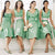 Simple Green Four Styles Sleeveless A Line Knee Length Empire Waist Satin Bridesmaid Dresses Evening Dresses - NICEOO