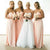 Sexy Pink Sweetheart Empire Waist A Line Chiffon Bridesmaid Dresses Prom Dresses - NICEOO