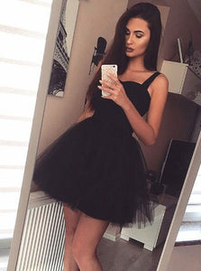 Cute A Line Sweetheart Sleeveless Mini Satin Homecoming Dresses Evening Dresses - NICEOO