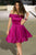 Elegant A Line Off Shoulder Knee Length Homecoming Dresses Evening Dresses - NICEOO