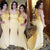 Unique Yellow One Shoulder Sweetheart Mermaid Lace Bridesmaid Dresses Evening Dresses