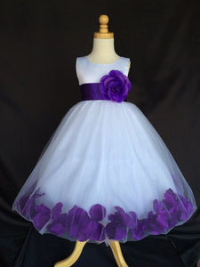 A Line Round Neck Sleeveless Flower Girl Dresses With Flower - NICEOO