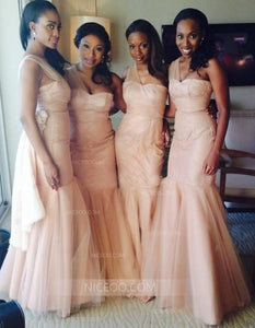 Unique Pink Slim Line One Shoulder Sweetheart Sleeveless Tulle Bridesmaid Dresses Evening Dresses