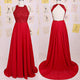Sexy Red Chiffon Backless Bridesmaid Dresses Elegant prom dresses
