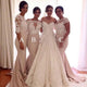 Elegant Three Styles Sweetheart Mermaid Satin Bridesmaid Dresses Evening Dresses