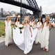 Sexy Ivory V Neck Backless A Line Empire Waist Chiffon Bridesmaid Dresses Prom Dresses - NICEOO