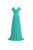 Mint Green A Line Off Shoulder Chiffon Bridesmaid Dresses Affordable Evening Dresses