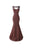 Sexy Brown Sweetheart Mermaid Appliques Chiffon Evening Dresses Prom Dresses - NICEOO