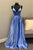Deep Neckline Satin evening dresses Beaded long prom dresses