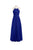 Simple Royal Blue Halter Open Back Empire Waist Chiffon Bridesmaid Dresses Formal Dresses