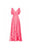 Sweet Pink V Neck A Line Short Sleeves High Low Chiffon Bridesmaid Dresses Prom Dresses - NICEOO