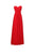 Elegant Red A Line Strapless Empire Waist Long Chiffon Bridesmaid Dresses Evening Dresses