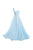 Elegant Light Blue Sweetheart One Shouleder A Line Chiffon Bridesmaid Dresses Evening Dresses - NICEOO