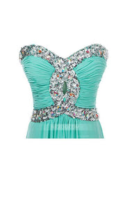 Elegant Tiffany Blue A Line Sweetheart Beading Lace Up Evening Dresses Prom Dresses