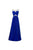 Elegant Royal Blue A Line Round Neck Open Back Sleeveless Beading Long Chiffon Evening Dresses Prom Dresses