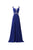 Elegant Navy Blue A Line Sweetheart Lace Up Chiffon Prom Dresses Evening Dresses - NICEOO
