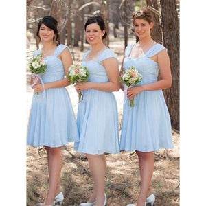 Cute Light Blue Sweetheart Strap Affordable Mini Bridesmaid Dresses - NICEOO