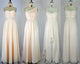 Elegant Ivory Four Styles A Line Sweetheart Bridesmaid Dresses Cheap Prom Dresses