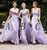 Elegant Lilac Three Styles A Line Sleeveless Chiffon Bridesmaid Dresses Evening Dresses - NICEOO