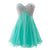 Elegant Tiffany Blue A Line Sweetheart Beading Mini Tulle Prom Dresses Evening Dresses
