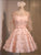 Cute Pink A Line Sweetheart Bowknot Appliques Knee Length Satin Homecoming Dresses Prom Dresses - NICEOO