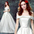 Elegant off shoulder Wedding Dress Satin A-line bridal dresses