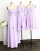 Elegant Lilac Three Styles Sweetheart Sleeveless Chiffon Bridesmaid Dresses Cheap Evening Dresses - NICEOO