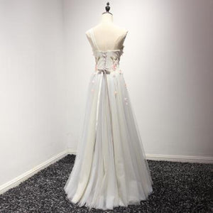 Unique White A Line One Shoulder Appliques Tulle Homecoming Dresses Prom Dresses