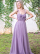 Sexy Lilac A Line Sweetheart Sleeveless Backless Tulle Best Bridesmaid Dresses Evening Dresses - NICEOO