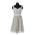Cute Gray Sweetheart Starp Chiffon Bridesmaid Dresses Short Prom Dresses - NICEOO