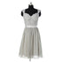 Cute Gray Sweetheart Starp Chiffon Bridesmaid Dresses Short Prom Dresses