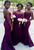 Dark Purple Sweetheart Open Back Mermaid Lace Bridesmaid Dresses Best Prom Dresses - NICEOO