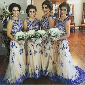 Gorgeous A Line Sleeveless Tulle Bridesmaid Dresses Prom Dresses