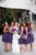 Purple Chiffon A Line Empire Waist Knee Length Bridesmaid Dresses Best Prom Dresses - NICEOO