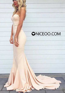 Sexy White Sweetheart Open Back Mermaid Affordable Evening Dresses Prom Dresses