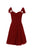 Red A Line Sweetheart Cap Sleeves Short Chiffon Prom Dresses Homecoming Dresses - NICEOO