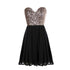 A Line Cute Sweetheart Empire Waist Chiffon Cocktail Dresses Prom Dresses