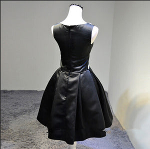Black Round Neck Sleeveless Empire Waist Short Evening Dresses Cheap Prom Dresses - NICEOO