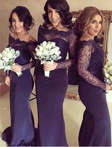 Sexy Navy Blue Sweetheart Empire Waist Slim Line Satin Bridesmaid Dresses Prom Dresses