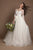 Round Neck lace appliques Plus Size Wedding Gown with Half Sleeves