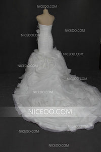 Slim Line Sweetheart Organza Wedding Dresses Best Bride Gown