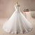 White A Line Strapless Open Back Empire Waist Tulle Wedding Dresses Best Bride Gown