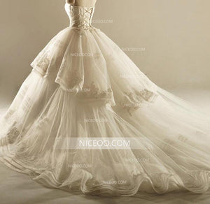 Gorgeous A Line Empire Waist Sleeveless Sweetheart Wedding Dresses Best Bride Gown