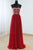 Red A Line Sweetheart Sleeveless Chiffon Prom Dresses Evening Dresses - NICEOO