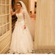 White A Line Sweetheart Long Sleeves Lace Wedding Dresses Bride Gown - NICEOO
