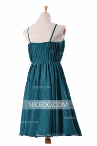 Simple Halter A Line Knee Length Chiffon Homecoming Dresses