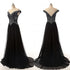 Black Off Shoulder Sweetheart Open Back Prom Dresses Bridesmaid Dresses With Beading