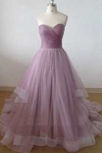 A Line Strapless Prom Dresses Best Evening Dresses With Organza