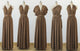 Brown Convertible Bridesmaid Dresses, Infinity Dresses, Multiway Dresses - NICEOO